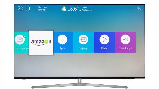 Hisense H55U7A: Günstiger 4K-Fernseher im Test Die Bedienung des Hisense H55U7A ist dank klarer Menüs einfach, Lieblings-Apps und -TV-Programme lassen sich sehr einfach ins Home-Menü verfrachten.©Hisense, COMPUTER BILD