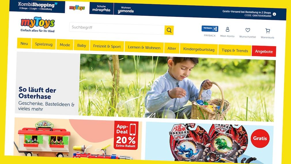 Sparen bei myToys: Oster-Deals 15 Prozent günstiger©Screenshot www.mytoys.de