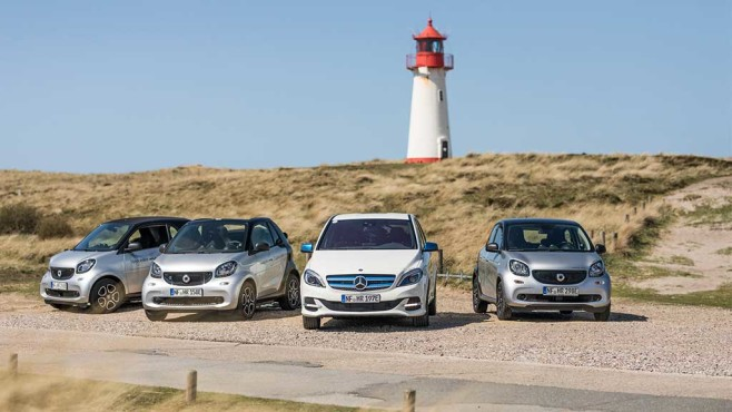 Mercedes-Benz: eAuto-Leihdienst auf Sylt©Daimler