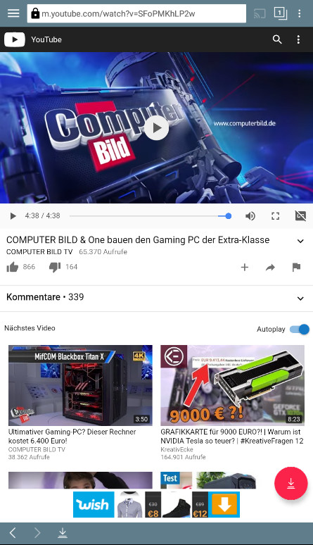 Screenshot 1 - TubeMate YouTube Downloader (APK)