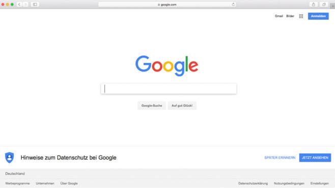 Google-Startseite©Google
