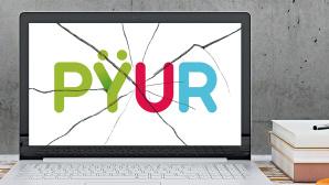 Bildschirm mit Pyur-Logo©PŸUR, ©istock/ExperienceInteriors