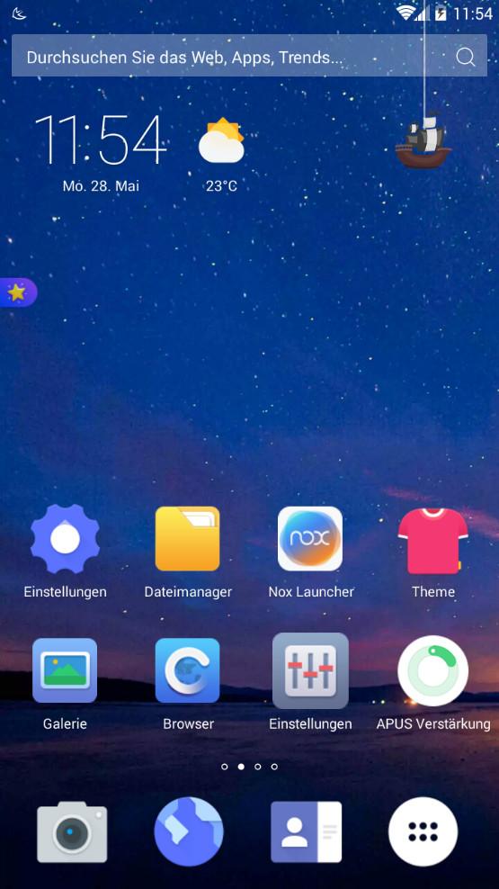 Screenshot 1 - Apus Launcher (Android-App)