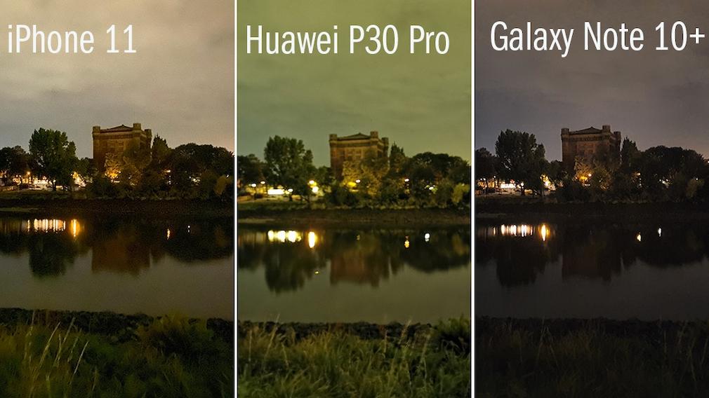 Nachtmodus: iPhone 11 vs. Huawei P30 Pro vs. Samsung Galaxy Note 10 Plus