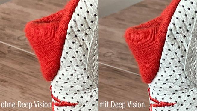 iPhone 11 ohne und mit Deep Fusion©COMPUTER BILD