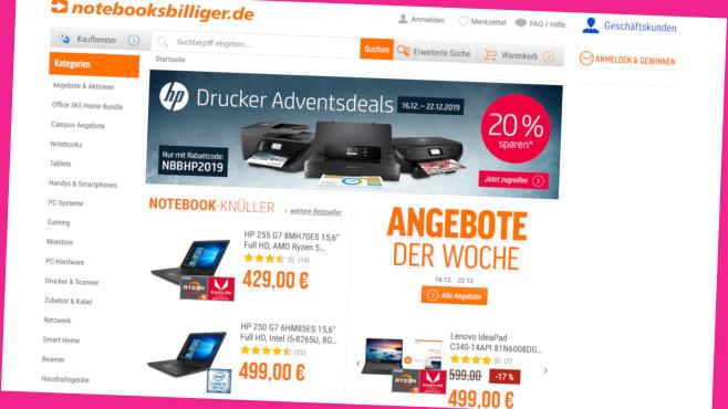 Online-Gutscheine bei Notebooksbilliger.de©Screenshot www.notebooksbilliger.de