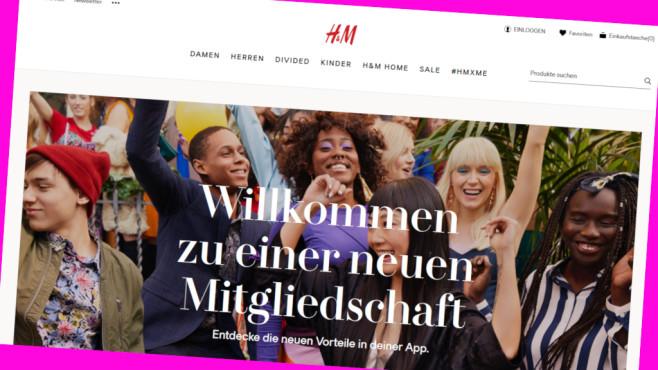 Rabatt für Club-Mitglieder bei H&M©PR/Screenshot www.hm.com