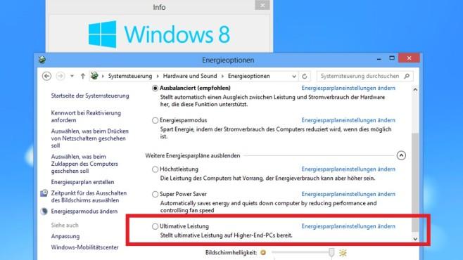 Windows 7/8: Ultimative Leistung installieren und aktivieren©COMPUTER BILD