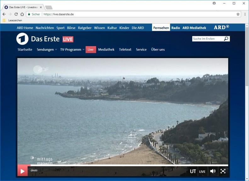 Screenshot 1 - ARD Livestream