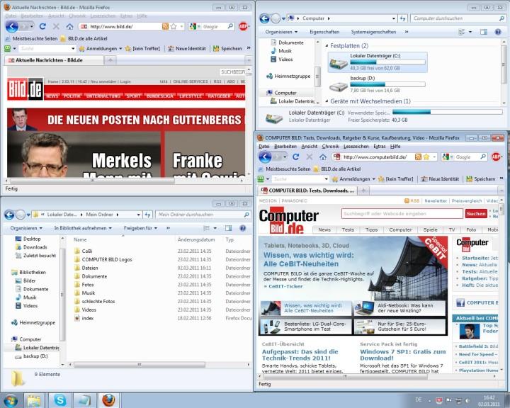 Screenshot 1 - WinSplit Revolution