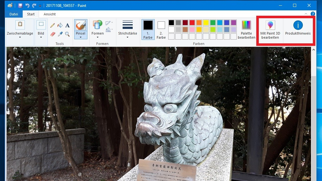 Neue Paint Funktionen Paint 3d öffnen Computer Bild