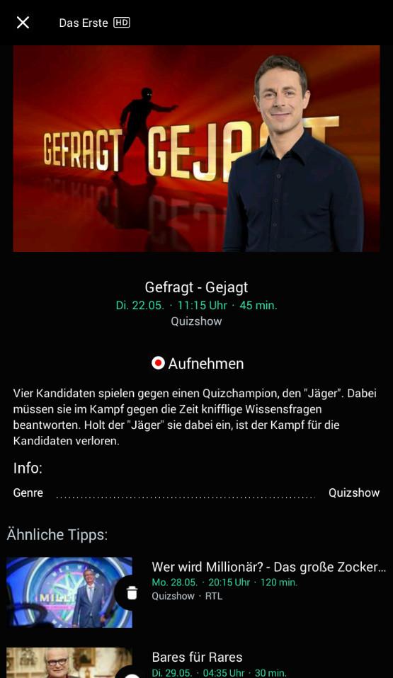 Screenshot 1 - Waipu.tv (Android-App)