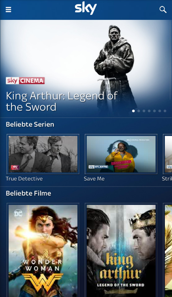 Screenshot 1 - Sky Go (App für iPhone & iPad)