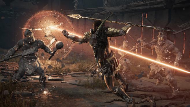 """Assassin's Creed – Odyssey angespielt: Auf zu neuen Ufern! In der Gamescom-Version von """"Assassin's Creed – Odyssey"""" ging's in einem Bosskampf gegen Medusa höchstpersönlich.©Ubisoft"""