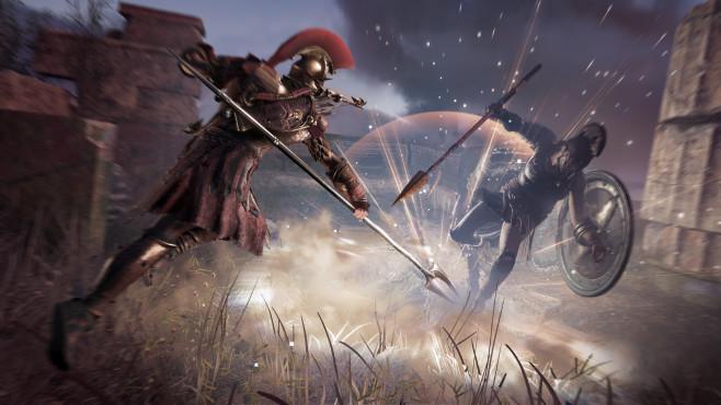 Assassin's Creed – Odyssey angespielt: Auf zu neuen Ufern! Je mehr Unsinn man in der Spielwelt anrichtet und je mehr Zivilisten man dabei schädigt, desto höher fällt das Kopfgeld aus – und desto mehr Söldner sind hinter einem her.©Ubisoft