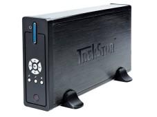 """Trekstor MovieStation maxi t.u Die """"Movie-Station"""" braucht keinen Lüfter. Die Metalloberfläche leitet die Wärme nach außen."""