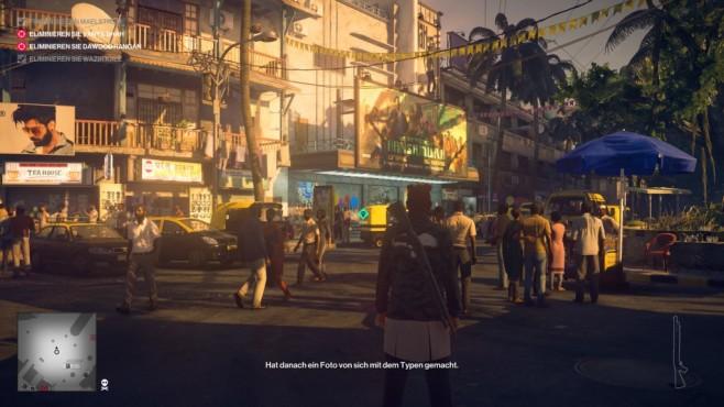 Hitman 2: Machen Sie Jagd auf Sean Bean! Mumbai eignet sich mit seinen Menschenmengen perfekt zum Untertauchen.©Warner Brothers