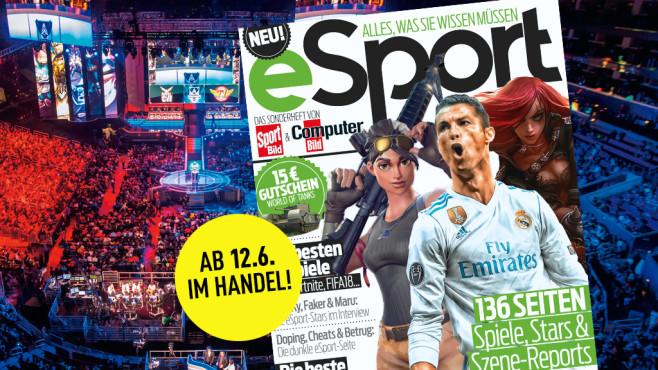 Neues Magazin: Die ganze Welt des eSport Das neue eSport-Sonderheft: Ab 12. Juni am Kiosk.©COMPUTERBILD, Riot