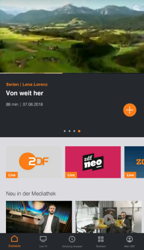 ZDFmediathek (App für iPhone & iPad)