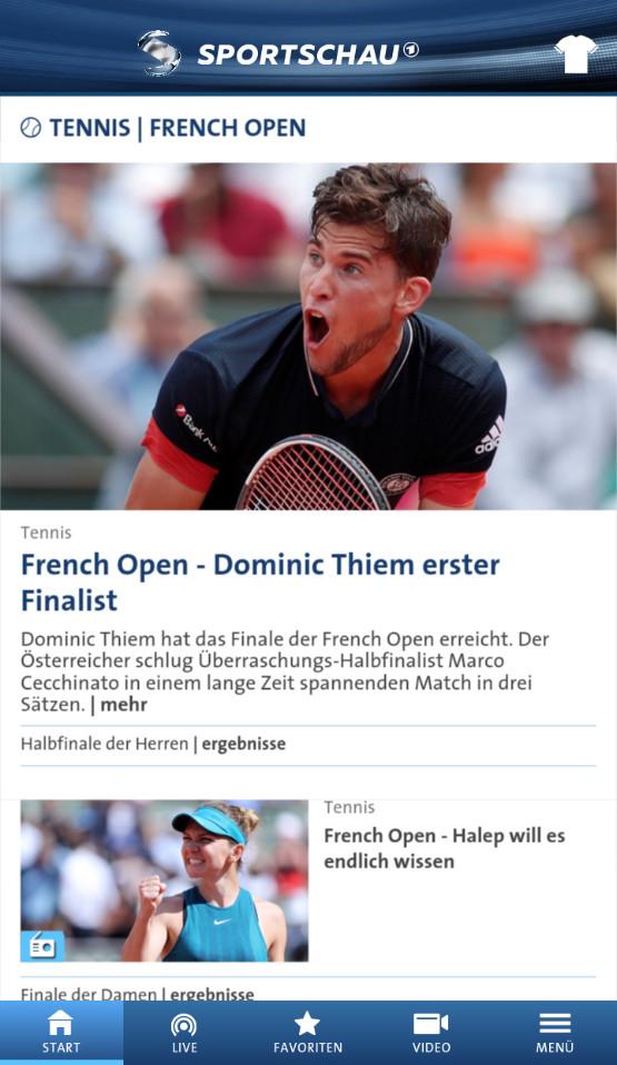 Screenshot 1 - Sportschau (App für iPhone & iPad)