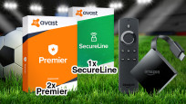 Amazon Fire TV 4K, Avast Premier, SecureLine VPN © iStock.com/Thomas-Soellner, Avast, Amazon