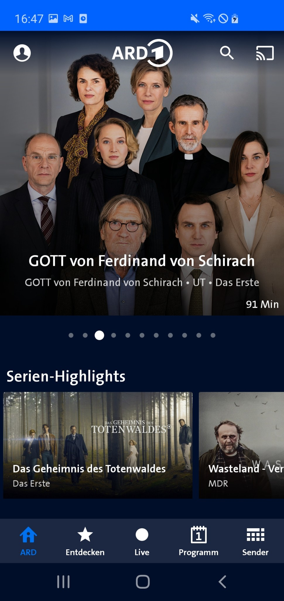 Screenshot 1 - ARD Mediathek (Android-App)