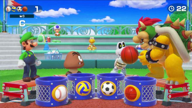 Super Mario Party: Mario ärgere dich nicht! In den Minispielen geht es um schnelle Reaktionen und ein gutes Auge.©Nintendo