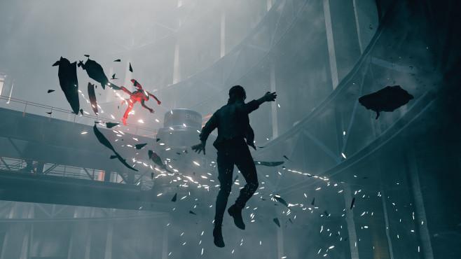 Control: Remedy enthüllt neues Actionspiel Auch die Gegner verfügen über Superkräfte. So stürzen sich beispielsweise die flugfähigen Drifter aus der Luft auf Jesse.©Remedy