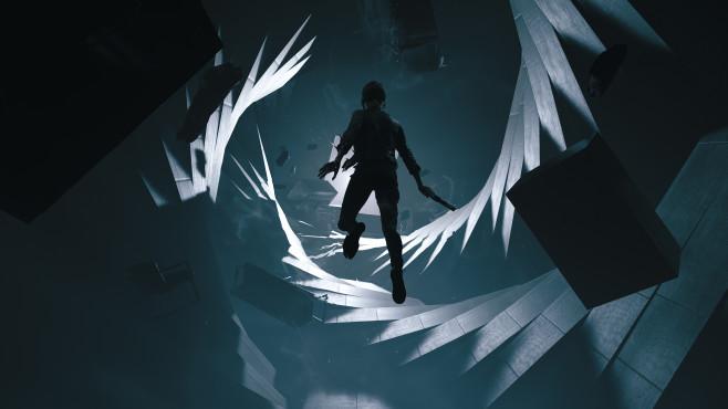 Control: Remedy enthüllt neues Actionspiel Im Verlauf des Spiels erhält Jesse Faden immer neue übersinnliche Kräfte und kann unter anderem auch längere Zeit durch die Luft schweben.©Remedy