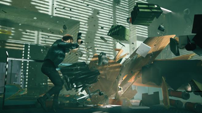 """Control: Remedy enthüllt neues Actionspiel In """"Control"""" spielen Sie Jesse Faden, die über besondere Fähigkeiten, wie Telekinese oder Levitation verfügt.©Remedy"""