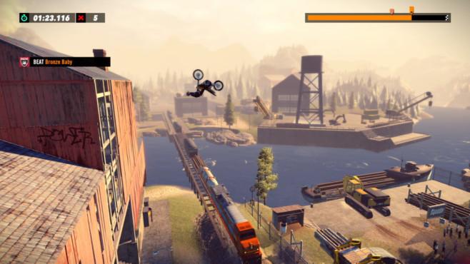 Trials Rising angespielt: Fun-Racer in der Vorschau Die 2,5-D-Level sind schön gemacht. Da macht der ambitionierte Motocrosser auch gerne mal einen Backflip.©Ubisoft
