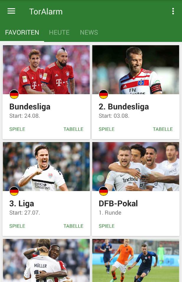 Screenshot 1 - TorAlarm: Fußball-Bundesliga-App für Android