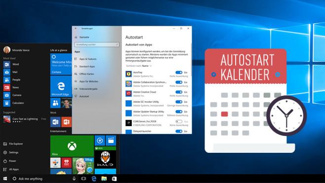 Windows-Statistik: OS weiß, wann Sie den Autostart aufgeräumt haben Versteckter Autostart-Kalender in Windows: Schalten Sie ihn frei, um Optimierungsarbeiten nachzuvollziehen.©Microsoft, iStock.com/ilyast