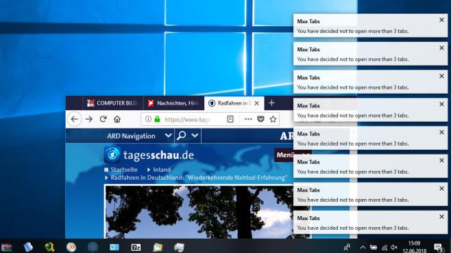 Firefox: Arbeitsspeicher-Verbrauch senken©COMPUTER BILD