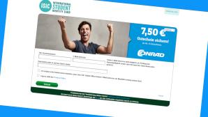 Conrad: Studenten-Rabatt f�r jeden Einkauf sichern©Screenshot www.conrad.de