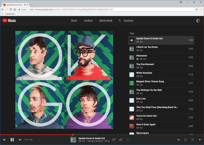Screenshot 1 - YouTube Music Webplayer