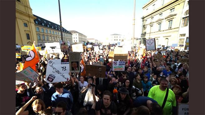 Artikel 13 Demo München©Twitter / @uploadfilter