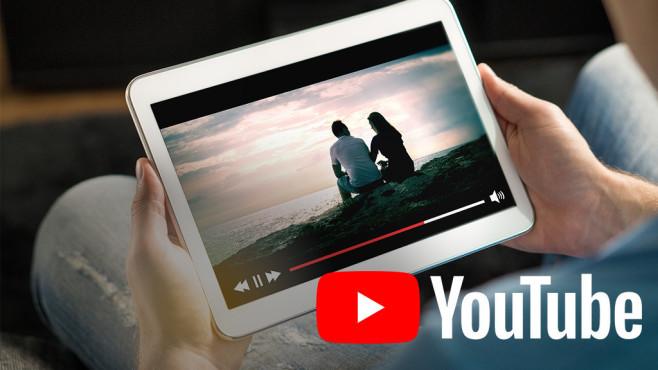 Tablet-Nutzer schaut YouTube©YouTube, iStock.com/Tero Vesalainen