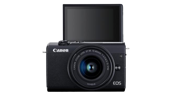 Canon EOS M200 Display um 180 Grad nach vorn klappbar©Canon