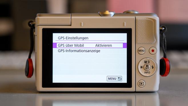 Canon EOS M200 GPS-Einstellungen©Canon