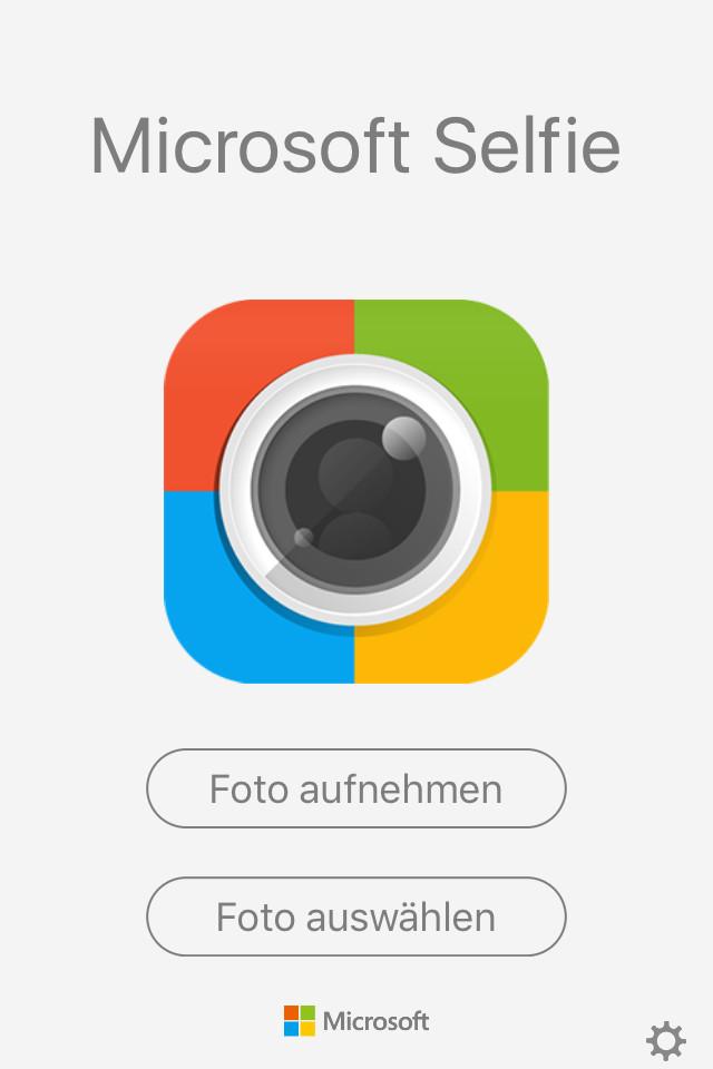 Screenshot 1 - Microsoft Selfie (App für iPhone & iPad)