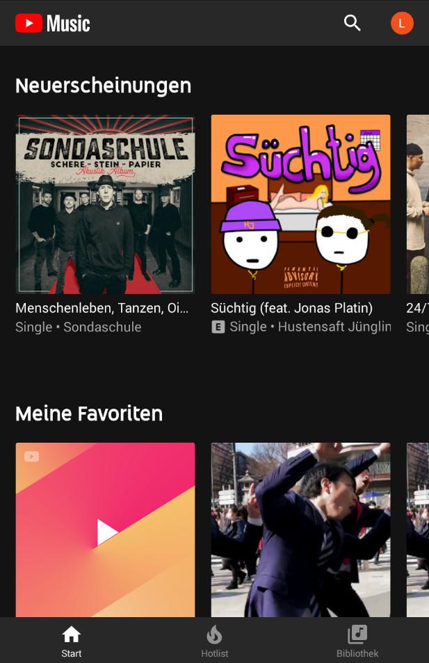 Screenshot 1 - YouTube Music (App für iPhone & iPad)