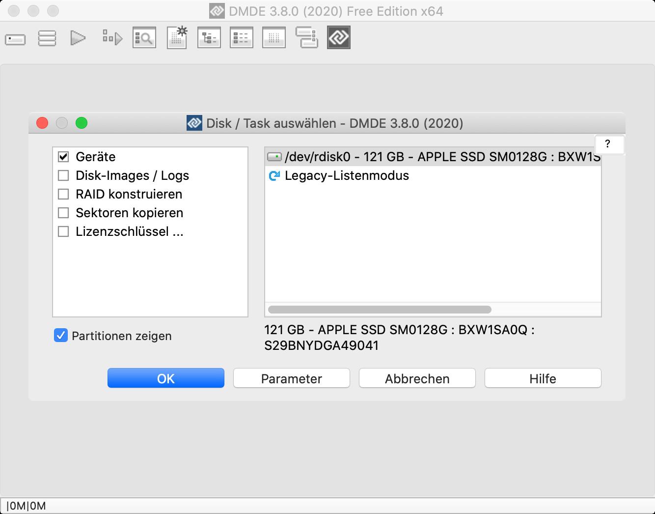 Screenshot 1 - DMDE (DM Disk Editor & Data Recovery Software) (Mac)