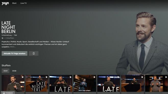 Streaming-Plattform Joyn: Late Night Berlin©COMPUTER BILD