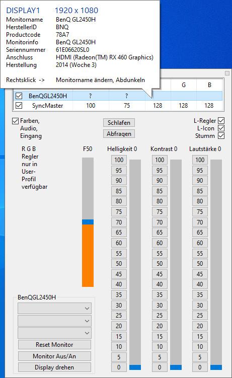 Screenshot 1 - ClickMonitorDDC