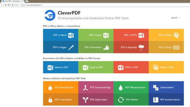 CleverPDF: 20 PDF-Tools in einem ©COMPUTER BILD