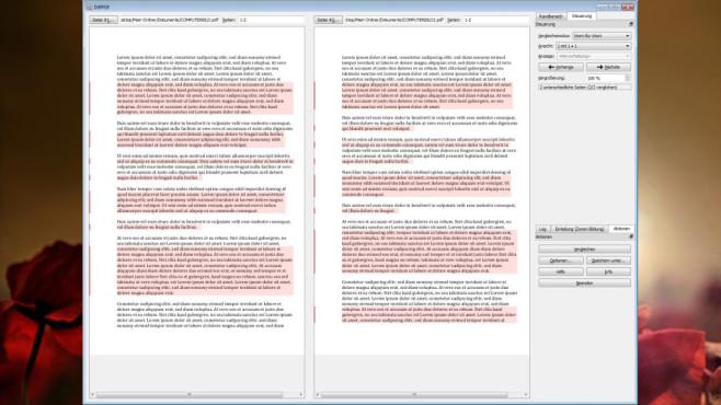 DiffPDF: PDF-Dateien vergleichen ©COMPUTER BILD