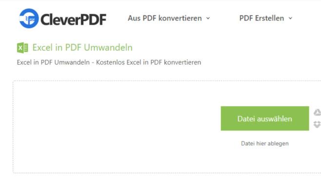 Excel in PDF umwandeln (CleverPDF) ©COMPUTER BILD