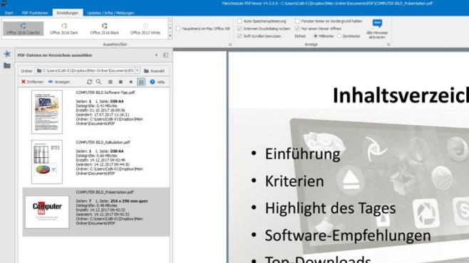 FileScheduler PDFViewer: Genügsames Anzeigeprogramm ©COMPUTER BILD