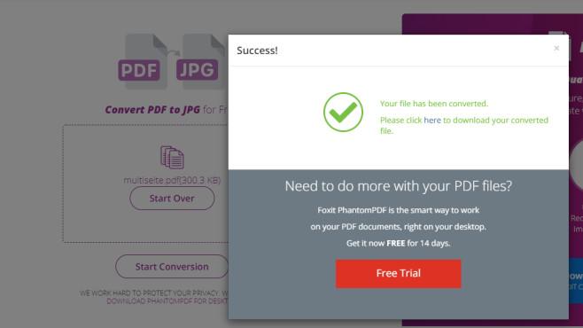 Foxit PDF to JPG Converter ©COMPUTER BILD